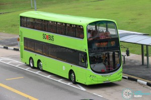 Tower Transit Volvo B9TL Wright (SBS3334T) - Service 97 Formula 1 Diversion