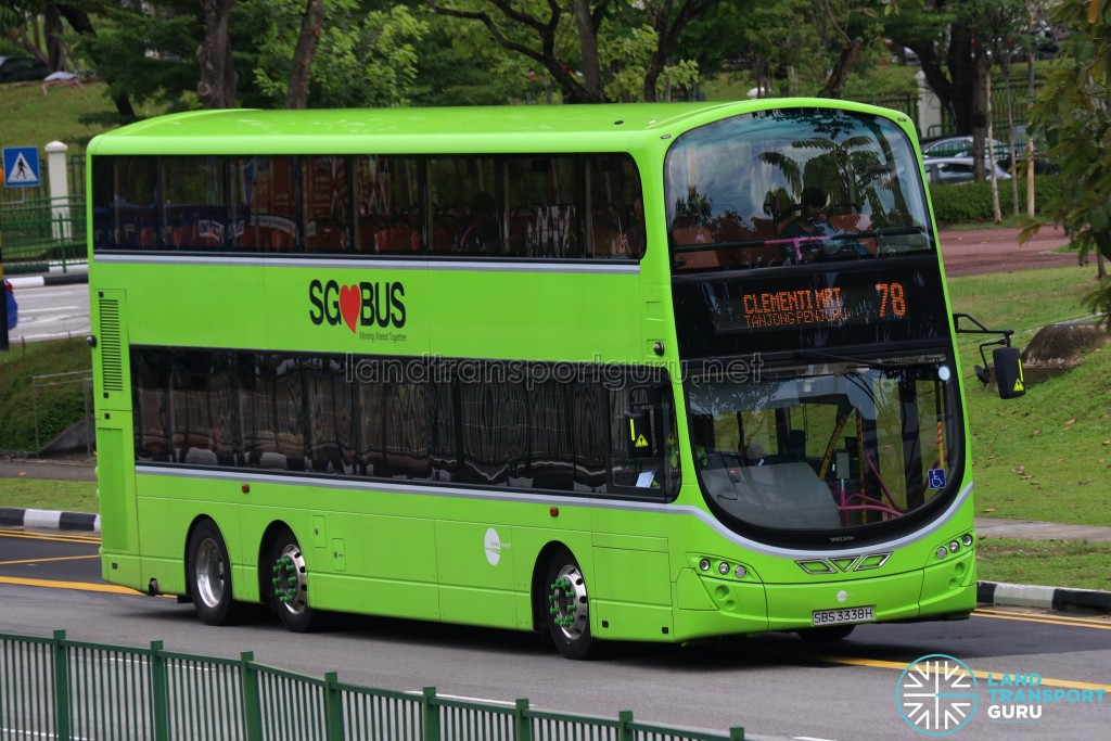 Tower Transit Volvo B9TL Wright (SBS3338H) - Service 78