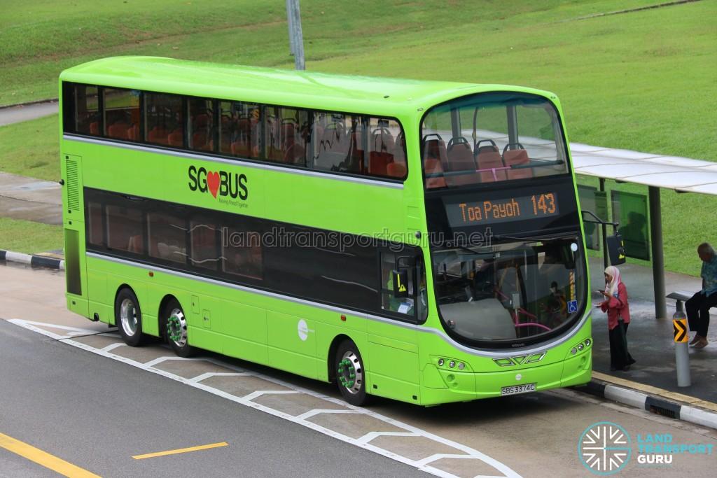 Tower Transit Volvo B9TL Wright (SBS3374C) - Service 143