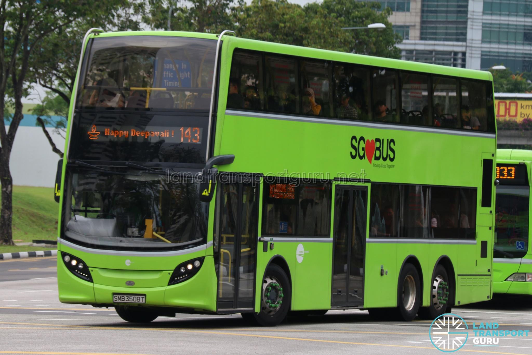 Tower Transit Alexander Dennis Enviro500 (SMB3508T) - Service 143 Happy Deepavali