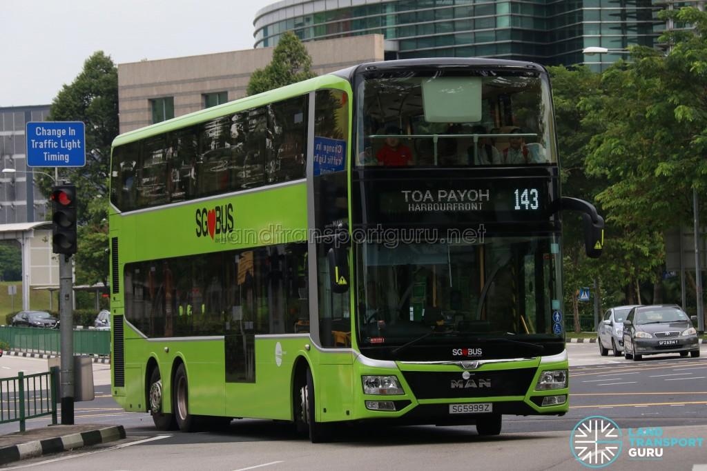 Tower Transit MAN Lion's City DD L - Service 143 (SG5999Z)