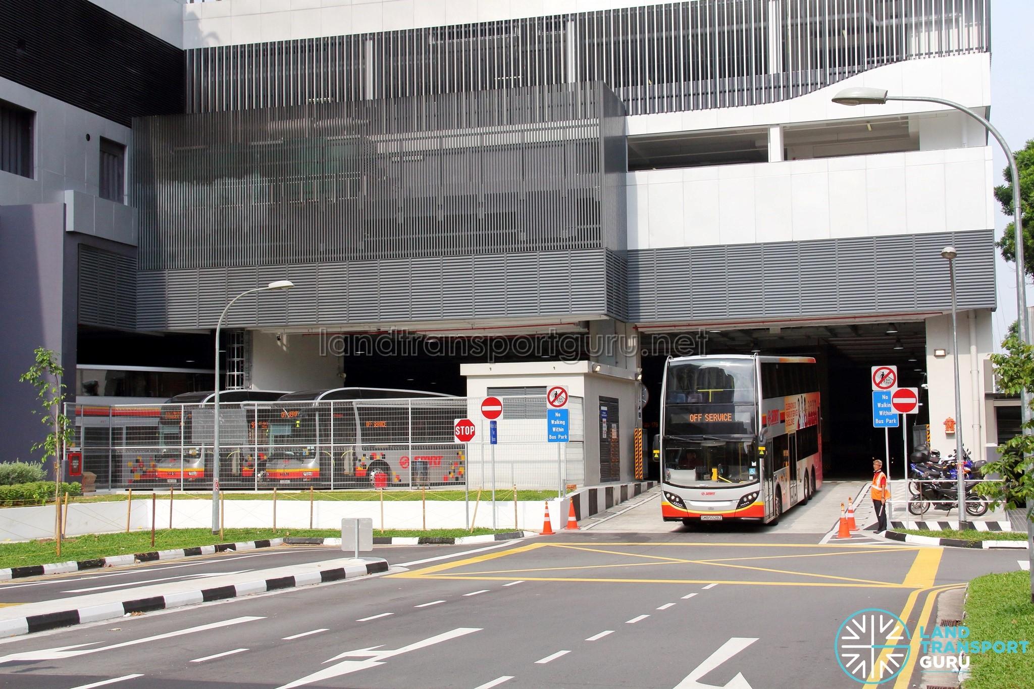 Bukit Panjang Bus Interchange - Egress lane