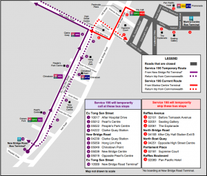 Formula 1 Diversions - Service 195 diversion map