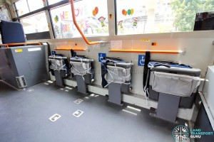 Hino Blue Ribbon City Hybrid - Foldable seats (stowed)
