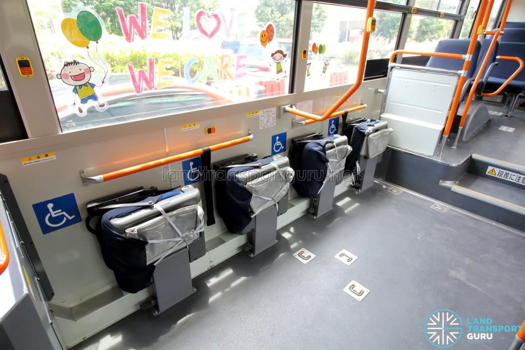 Hino Blue Ribbon City Hybrid - Wheelchair Bay