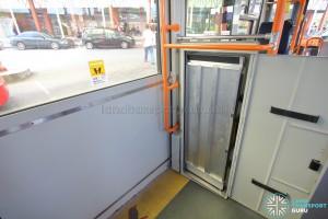 Hino Blue Ribbon City Hybrid - Wheelchair ramp cabinet