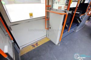 Hino Blue Ribbon City Hybrid - Exit door (Bottom)