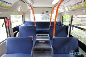 Hino Blue Ribbon City Hybrid - Rear seating area