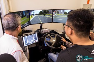 Journey With Us @ Bukit Panjang ITH: Bus Driving Simulator