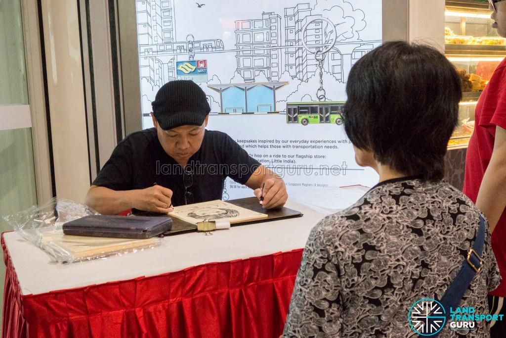 Journey With Us @ Bukit Panjang ITH: Caricature drawing