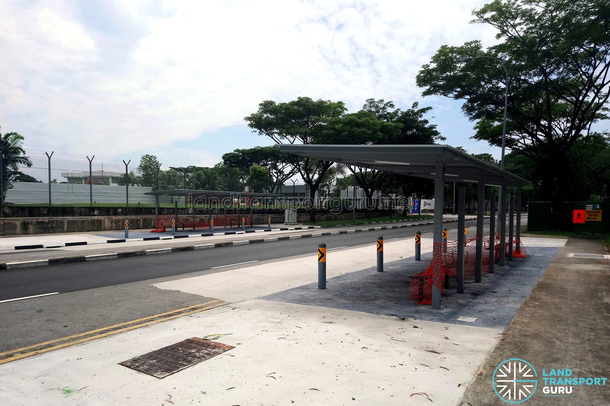 Kaki Bukit Road 5: New Bus Stops under construction