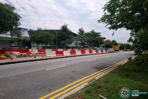 Kaki Bukit Avenue 6: New Bus Stops under construction
