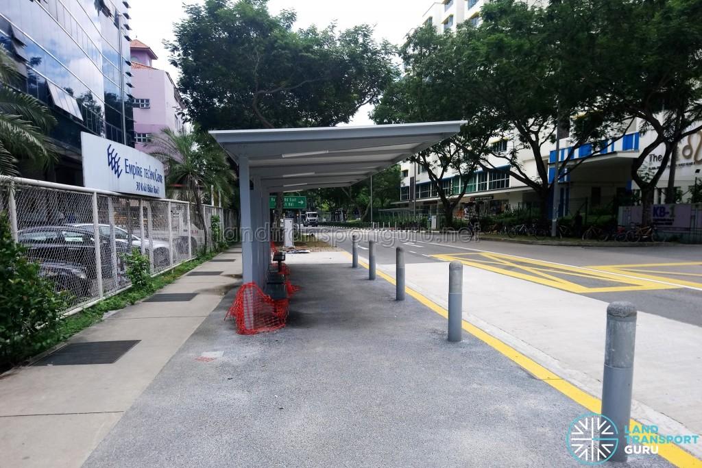 Kaki Bukit Road 3: New Bus Stops under construction
