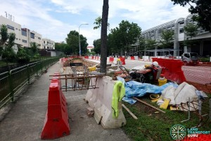 Kaki Bukit Ave 2: New Bus Stops under construction