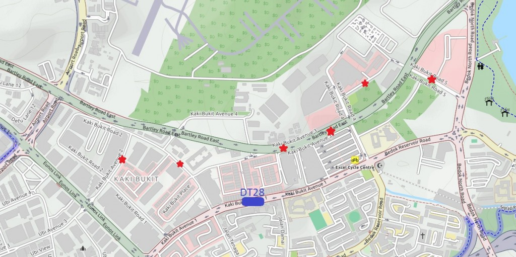 Locations of the new bus stops. Map: OpenStreetMap