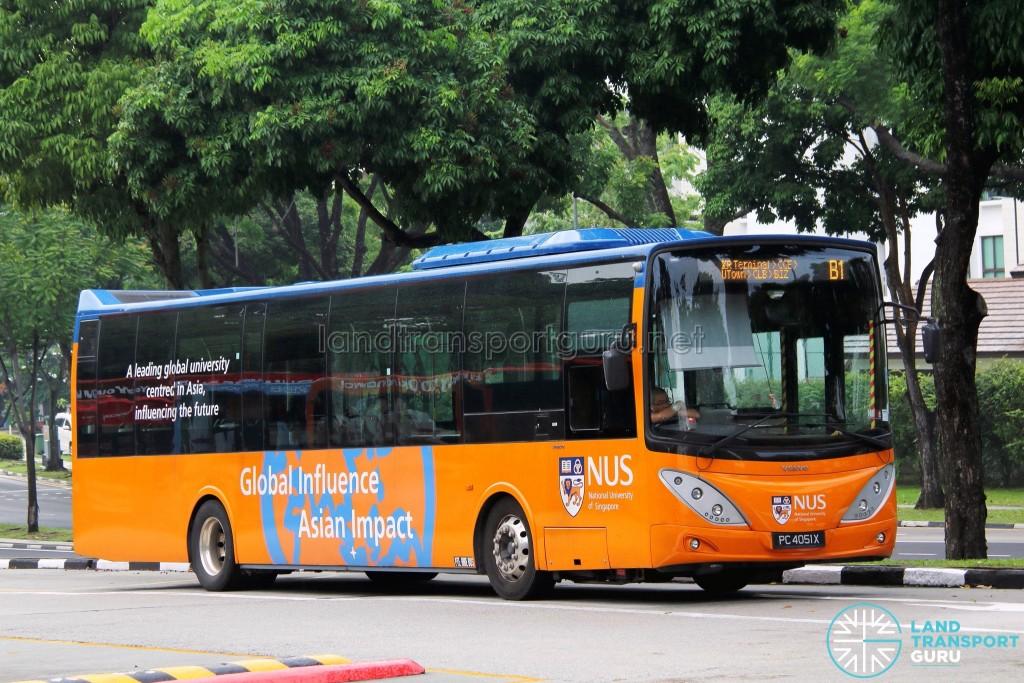 ComfortDelgro Bus Volvo B9L (PC4051X) - NUS ISB Route B1