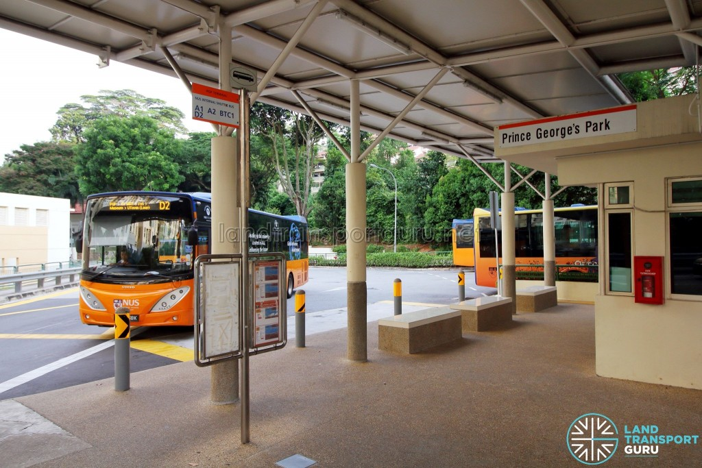Prince George's Park Bus Terminal - Sheltered waiting area