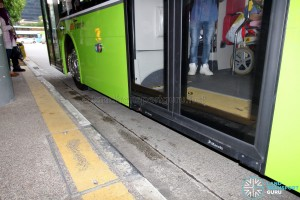 SBS Transit MAN A95 ND323F (SG5835M) - Automated Wheelchair Ramp from outside