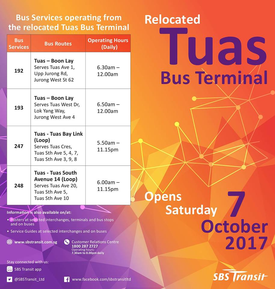 Relocated Tuas Bus Terminal Poster