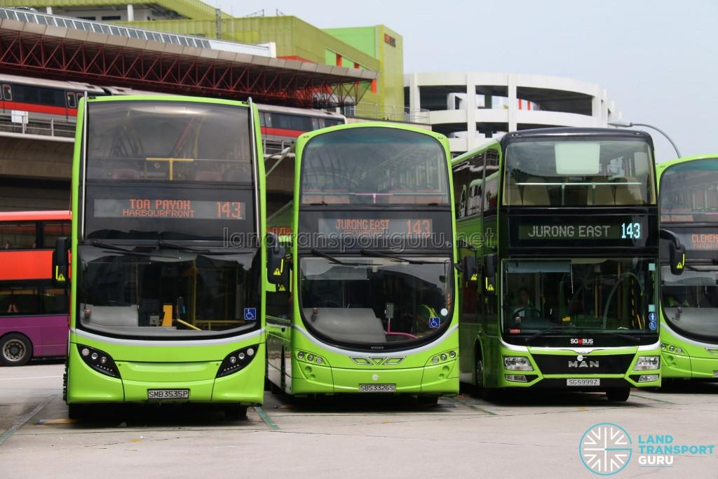 Tower Transit Bus 143 - 3 Double Decker Models