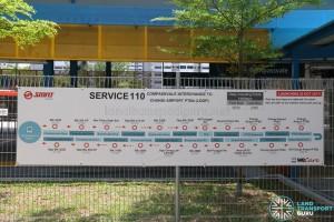 SMRT Bus Service 110 - Banner