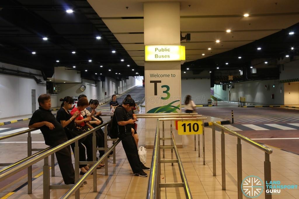Bus Service 110 - Berth at Changi Airport PTB3