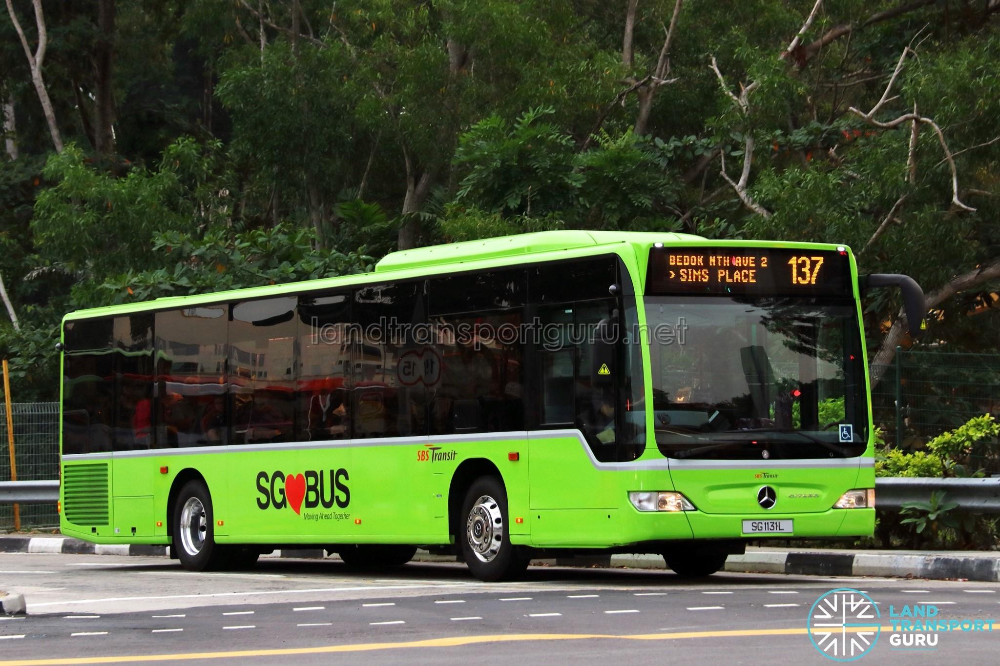 SBST Mercedes-Benz O530 Citaro (SG1131L) - Service 137