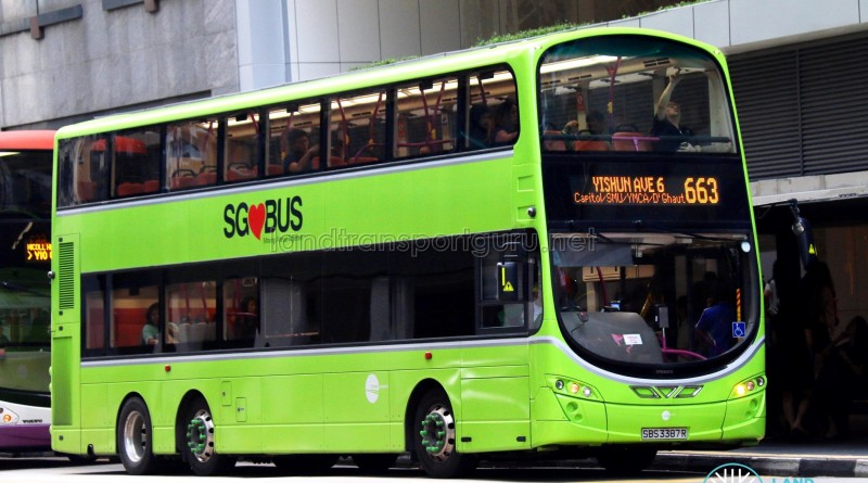 Tower Transit Volvo B9TL Wright (SBS3387R) - City Direct 663
