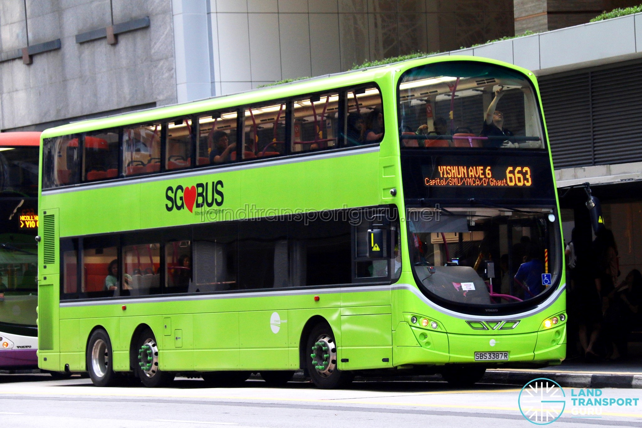 Tower Transit Volvo B9TL Wright (SBS3387R) – City Direct 663