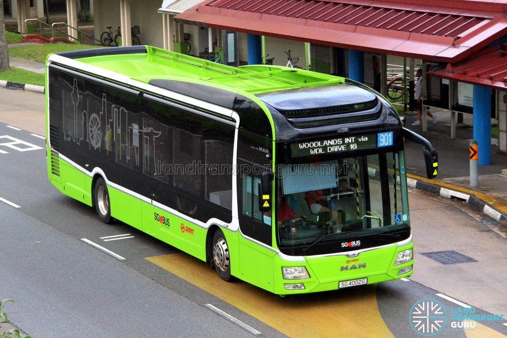 SMRT Buses - MAN Lion's City SD 3-Door (SG4002G) - Service 901