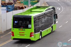 SMRT Buses - MAN Lion's City SD 3-Door (SG4002G) - Service 901 - Rear