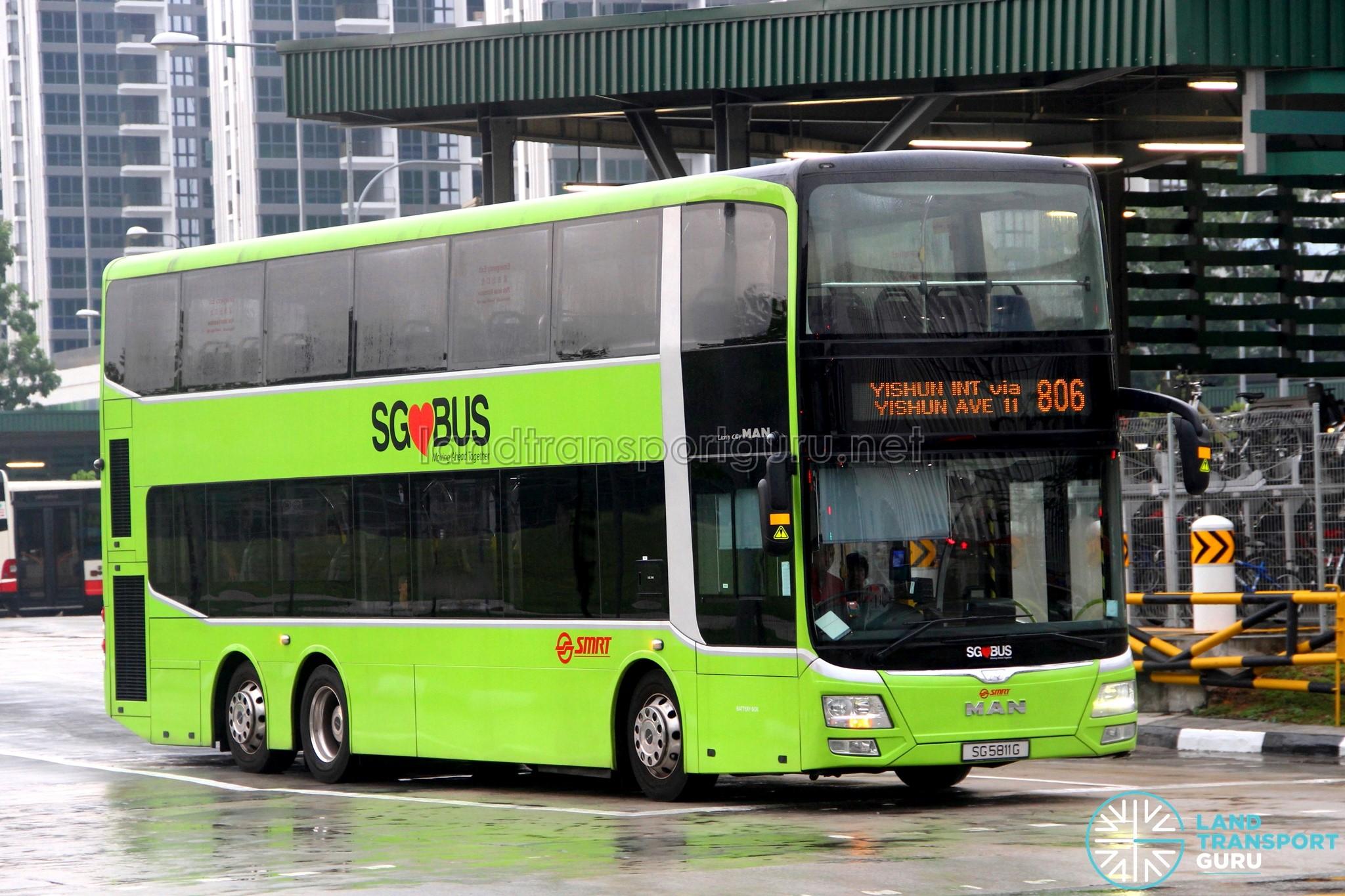 SMRT MAN A95 Facelift (SG5811G) - Service 806