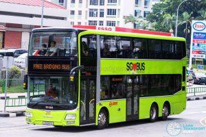 SMRT MAN A95 Facelift (SG5811G) - NSL Free Bridging Bus