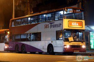 Bus 60A: SBS Transit Leyland Olympian 3-Axle (SBS9017U)