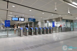 Bedok North MRT Station - Faregates and PSC