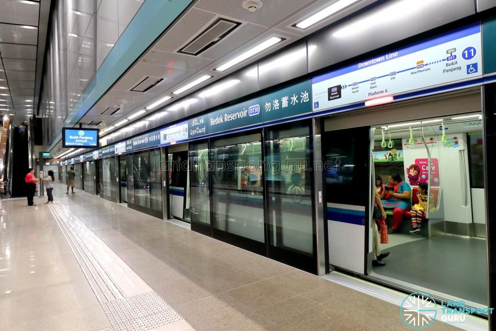 Bedok Reservoir MRT Station - Platform A