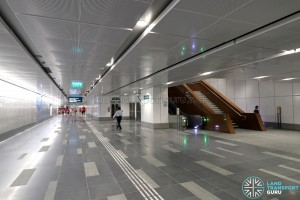 Bedok Reservoir MRT Station - Underpass to Exits A & B