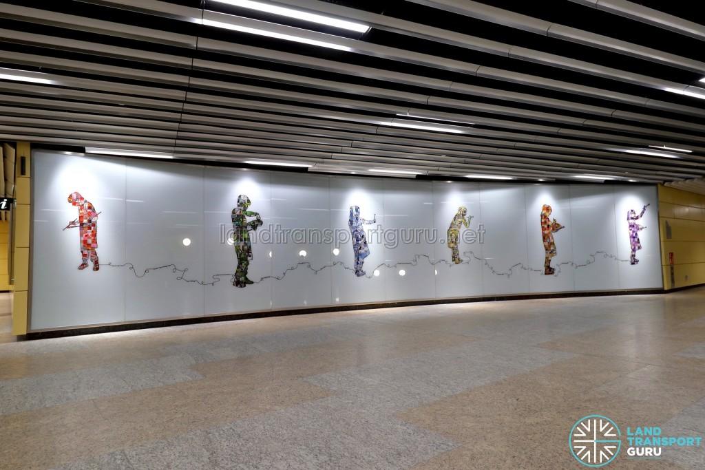Bencoolen MRT Station - Art In Transit 'Tracing Memories'