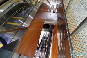 Bencoolen MRT Station - Looking down from B2