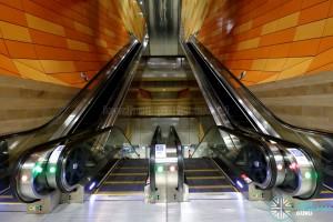 Bencoolen MRT Station - B5 Escalator Landing