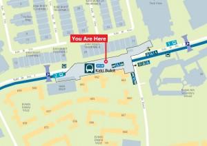 Map of Kaki Bukit MRT Station