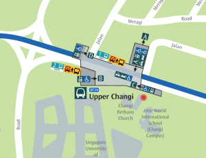 Map of Upper Changi MRT Station