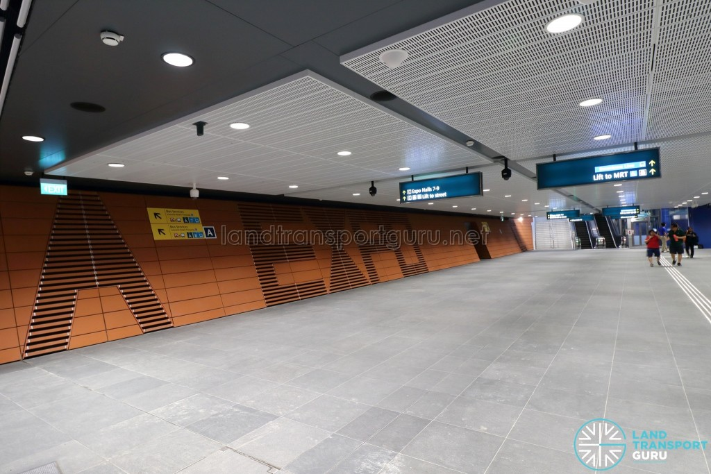 Expo MRT Station (DTL) - Exits A and B