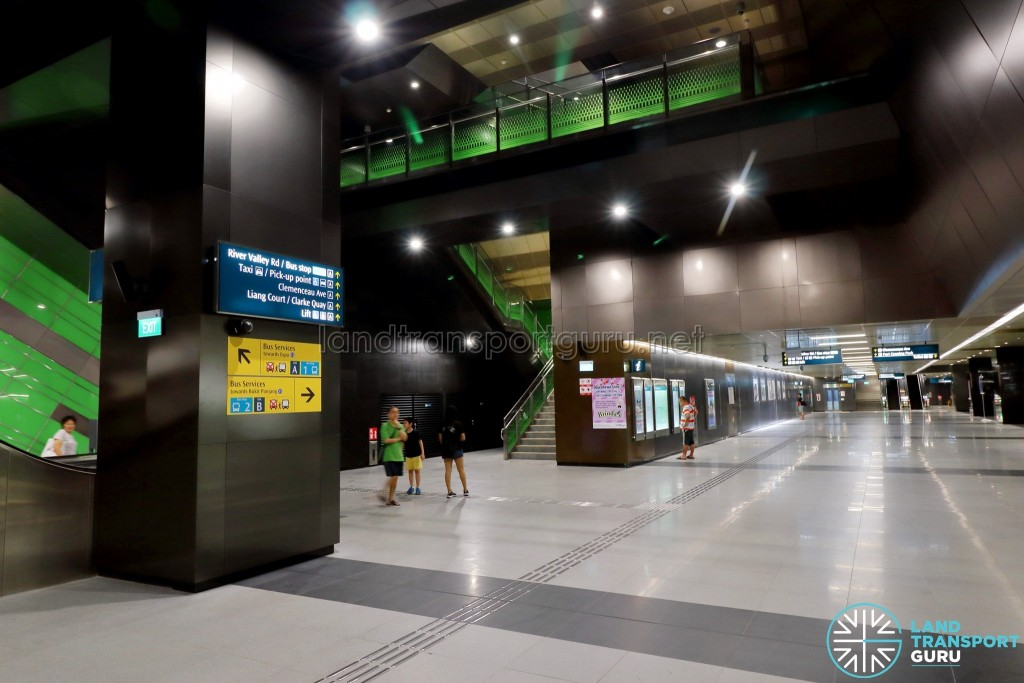 Fort Canning MRT Station - Ticket Concourse Level (B1)