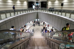Geylang Bahru MRT Station - Overhead view of Platform