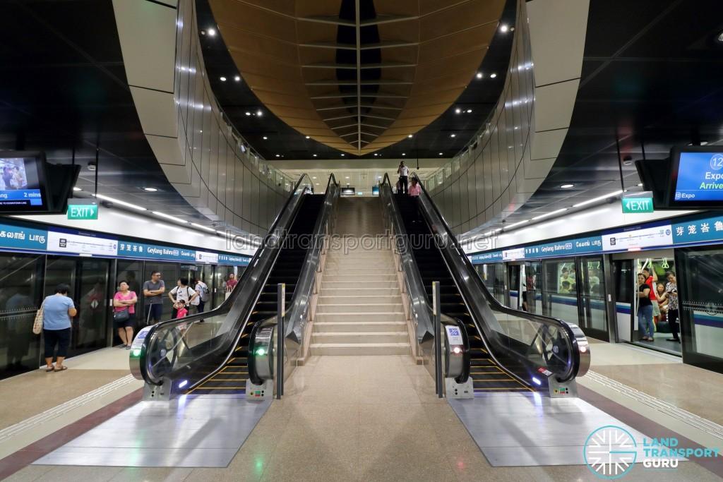 Geylang Bahru MRT Station - Escalators to Concourse (B3)