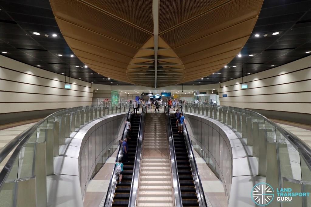 Geylang Bahru MRT Station - Escalators to Platform (B2)