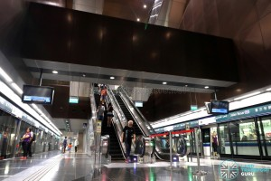 Jalan Besar MRT Station - Escalators to Concourse