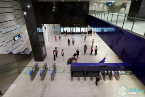 Kaki Bukit MRT Station - Overhead view of ticket concourse