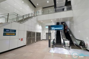 MacPherson MRT Station (DTL) - Westbound platform escalators
